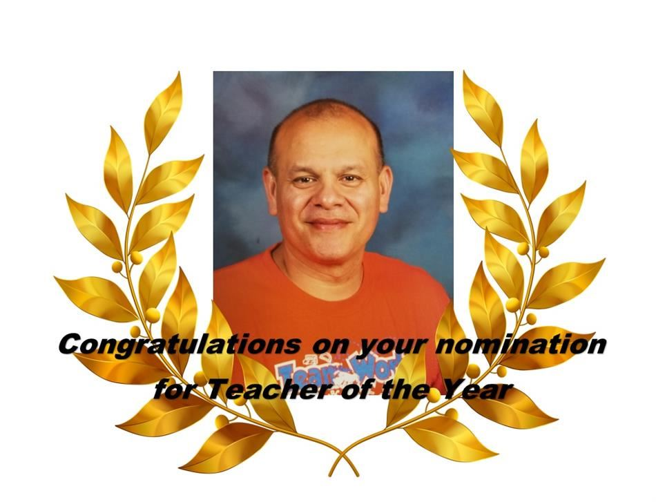 Congratulations to Mr. Cortez 2017-18 HME Teacher of the Year